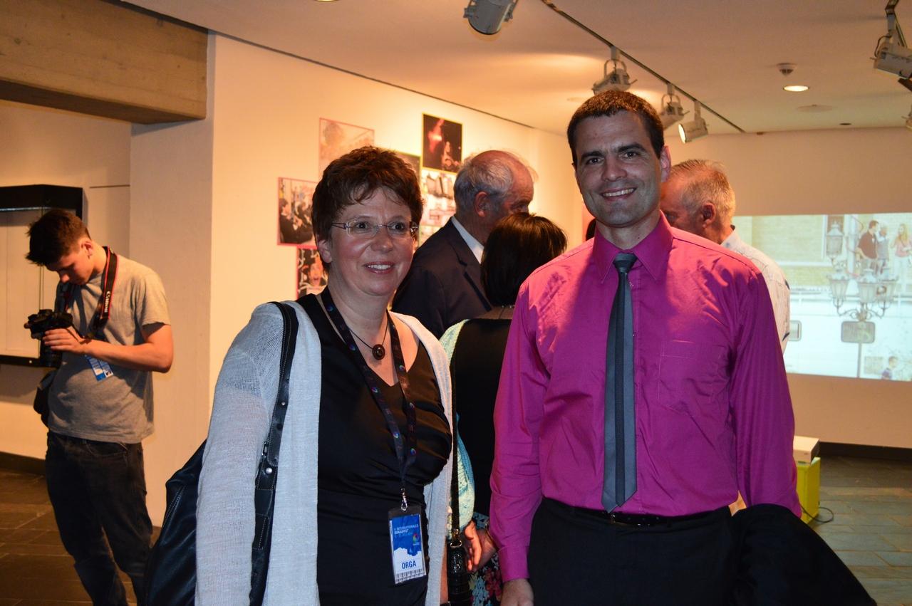 Сабина Мајгел директорица Дунавског фестивала и др Андреј Фајгељ